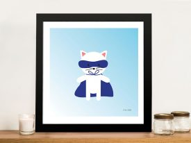 Buy a Framed Print of Cat Super Hero