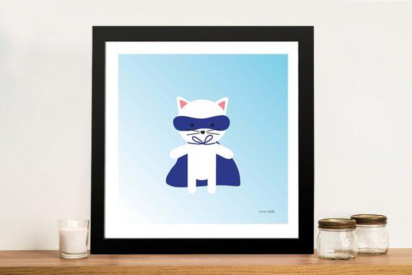 Buy a Framed Print of Cat Super Hero