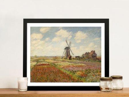 Buy Tulip Fields Classical Wall Art by Monet