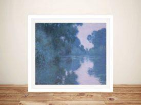 Buy Arm of the Seine a Framed Monet Print