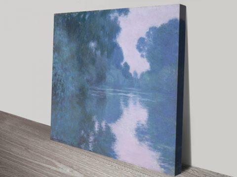 Arm of the Seine Monet Canvas Art For Sale AU