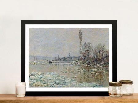 Buy a Breakup of Ice Framed Monet Print