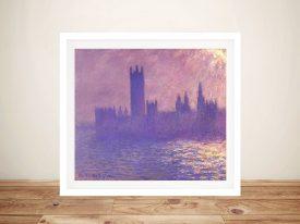 Buy Houses of Parliament Monet Wall Art