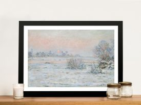 Buy Winter Sun Canvas Wall Art by Monet