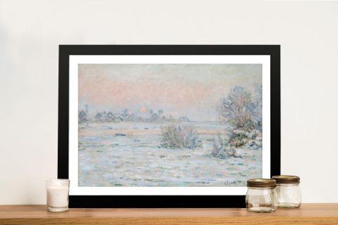 Buy Winter Sun Canvas Wall Art by Monet