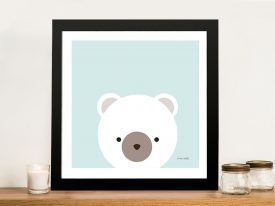 Buy Cuddly Bear Framed Kids Wall Art