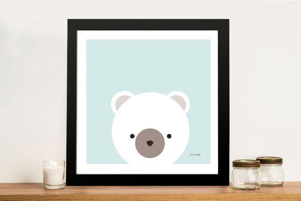 Buy Cuddly Bear Framed Kids Wall Art