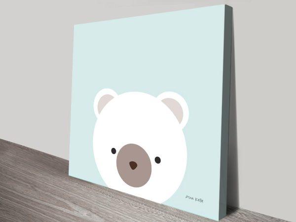 Cuddly Bear Nursery Wall Art For Sale Online