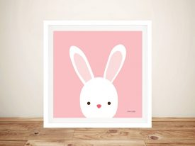 Buy Cuddly Bunny Cute Framed Kids Wall Art