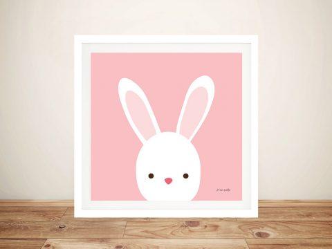 Buy Cuddly Bunny Cute Framed Kids Wall Art