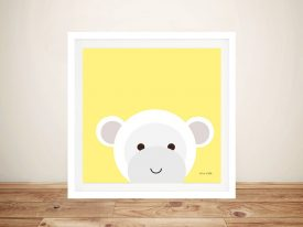 Buy a Cute Framed Print of Cuddly Monkey
