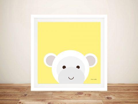 Buy a Cute Framed Print of Cuddly Monkey