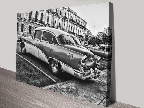 Buy Black & White Classic Car Prints Online