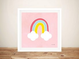 Buy Her Rainbow Framed Kids Canvas Artwork