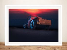 Buy Hotrod Sunset Ready to Hang Wall Art