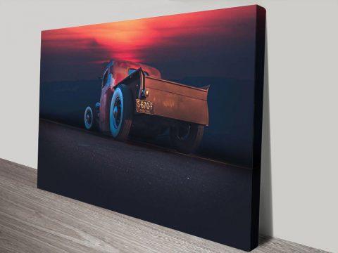 Buy Hotrod Sunset Affordable Classic Car Art