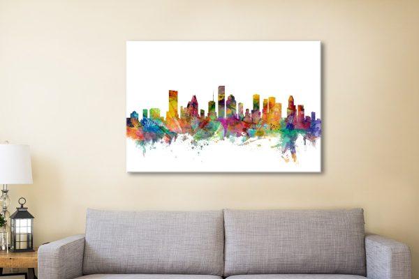 Buy Houston Skyline Wall Art Unique Gifts AU
