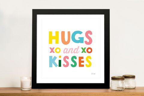 Buy Multicoloured Hugs and Kisses Kids Prints