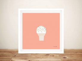 Buy a Pretty Pink Print of Ice Cream Cone l