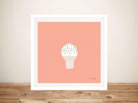 Buy a Pretty Pink Print of Ice Cream Cone l