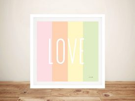Buy a Unique Love Rainbow Canvas Print