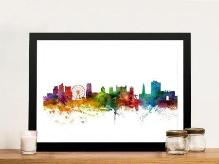 Buy a Nottingham Skyline Watercolour Print