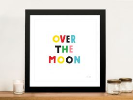 Buy an Over the Moon Adorable Nursery Print