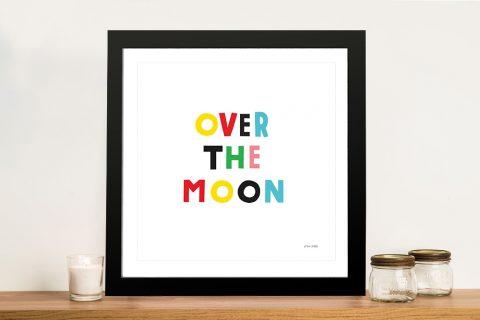 Buy an Over the Moon Adorable Nursery Print