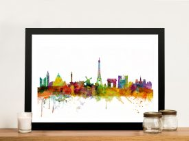 Buy Paris Skyline Michael Tompsett Wall Art