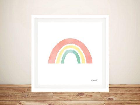 Buy a Pretty Canvas Print of Pastel Rainbow l