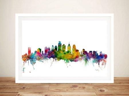 Buy a Michael Tompsett Philadelphia Skyline Print