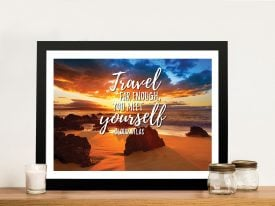 Buy Rocky Beach Quote Framed Artwork