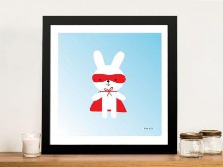 Buy a Framed Print of Rabbit Super Hero