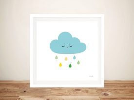 Buy Sleepy Cloud l Cute Framed Kids Wall Art
