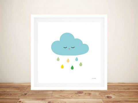 Buy Sleepy Cloud l Cute Framed Kids Wall Art