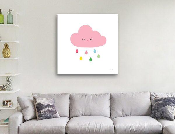 Buy Sleepy Cloud ll Affordable Wall Art for Kids