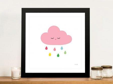 Buy a Sleepy Cloud ll Kids Canvas Print