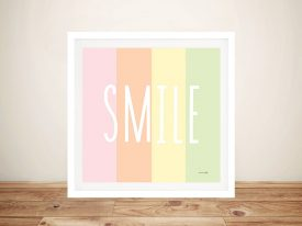 Buy Smile Rainbow Unique Kids Wall Art