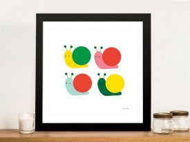 Buy Snails Four Multicoloured Art for Kids