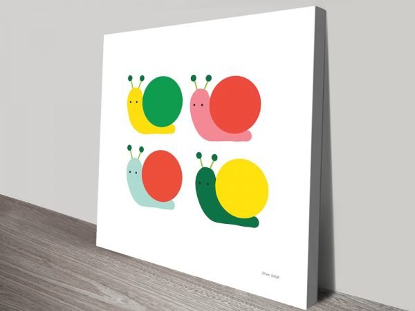 Buy Snails Four Wall Art for Your Childs Nursery