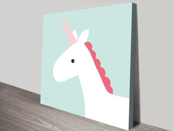 Buy Affordable Unicorn Kids Canvas Art AU