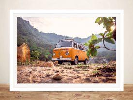 Buy a Fun Framed Print of VW Van Adventures