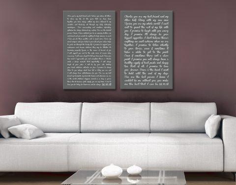 Custom Wedding Vows Wall Art