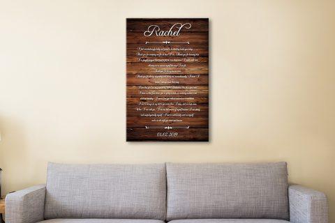 Personalised Wood 5th Wedding Anniversary Art Gift