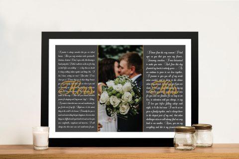 Wedding VowsArtwork Gift