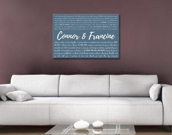 Wedding Vows Canvas Print