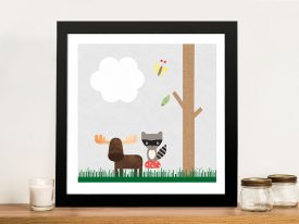 Buy Woodland Animals l Nursery Wall Art