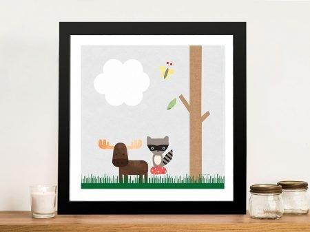 Buy Woodland Animals l Nursery Wall Art