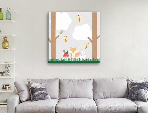 Woodland Animals ll Cute Kids Art for Sale AU