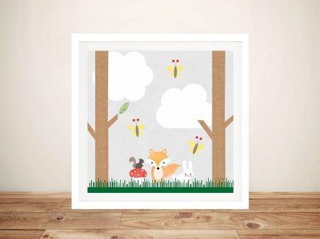 Buy Woodland Animals ll Cute Kids Wall Art